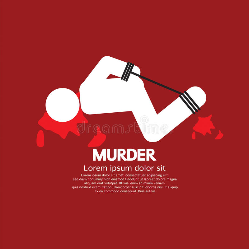 Murder Victim By Hands And Feet Tied vector illustration