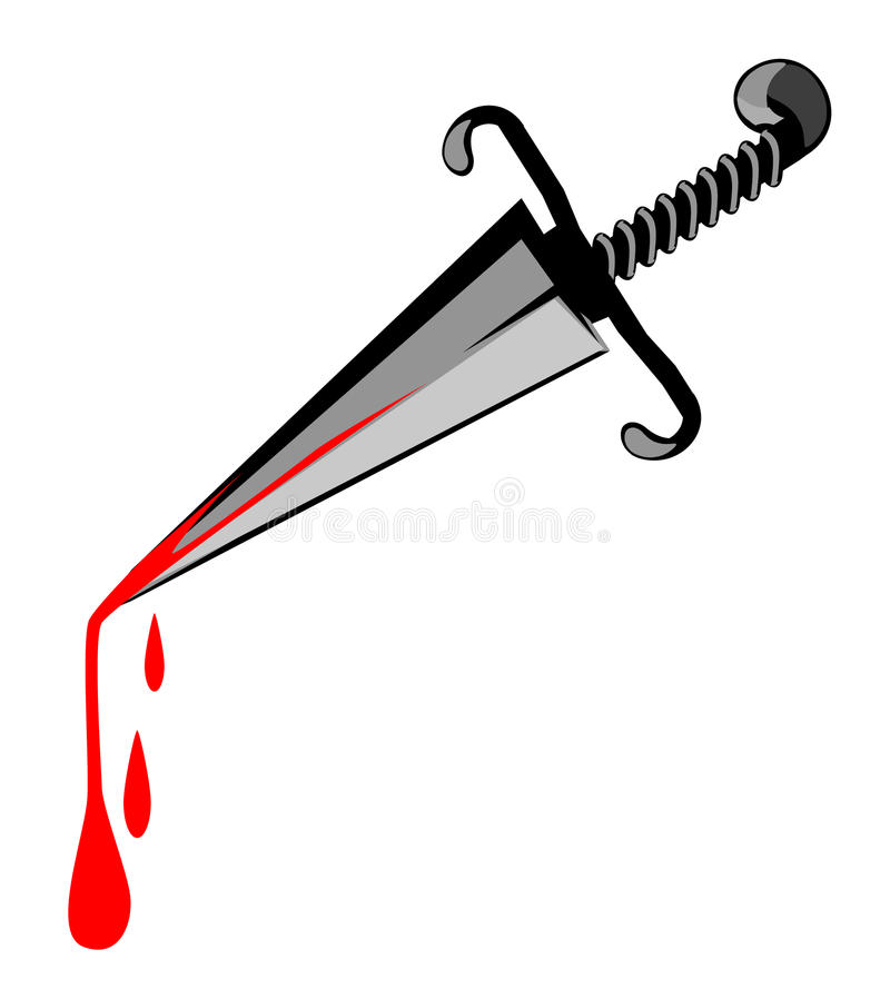 Murder Weapon Knife stock illustration
