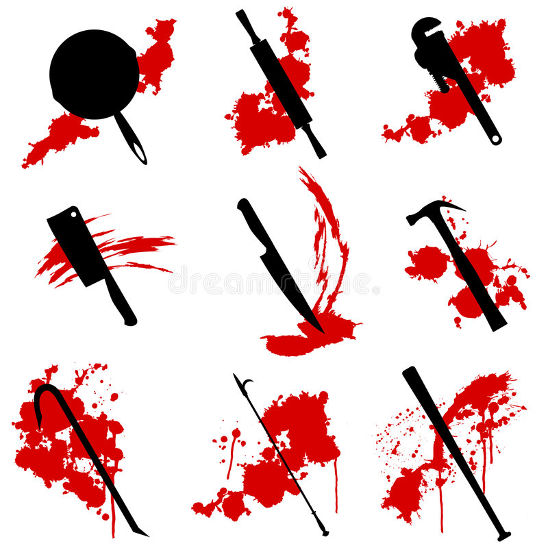 Download Murder Weapons Stock Image - Image: 8610091