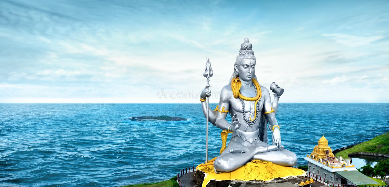 Murdeshwar est une ville dans Bhatkal Taluk de secteur de Kannada d'Uttara images libres de droits