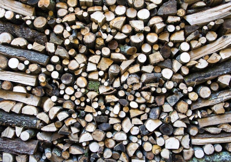 Mure a lenha, fundo da lenha desbastada seca imagens de stock