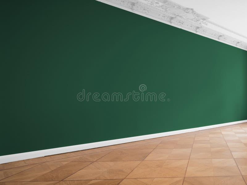 Mure o fundo na sala vazia com espaço da cópia foto de stock