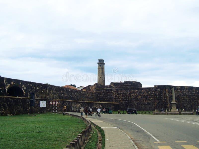 Muren en poort van het Fort Galle stock afbeeldingen