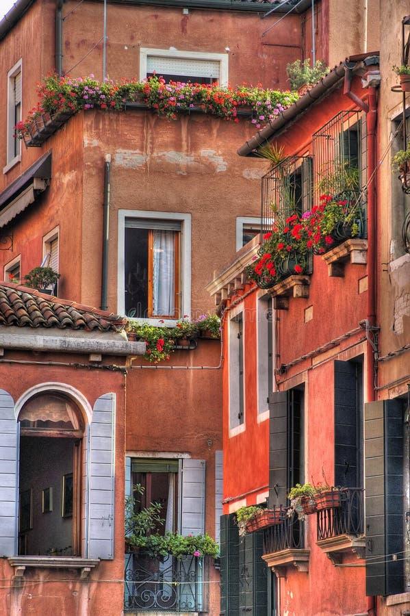 Muren en vensters. royalty-vrije stock afbeelding