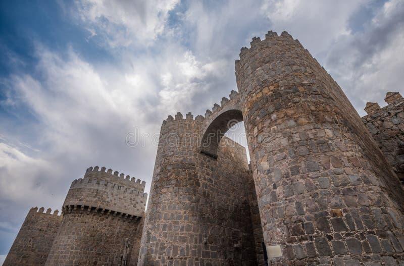Muren van Avila, Spaanse stad in Castilla en Leon royalty-vrije stock afbeeldingen