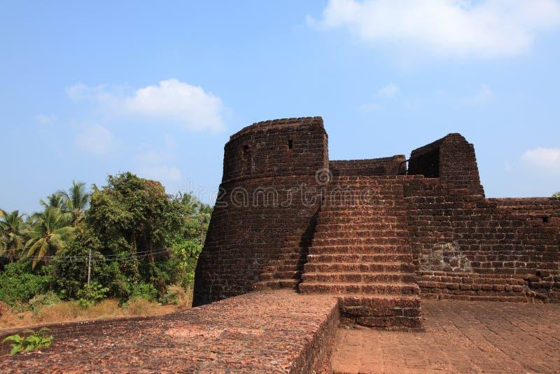 Muren van Bekal-Fort stock foto