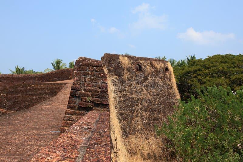 Muren van Bekal-Fort royalty-vrije stock afbeelding