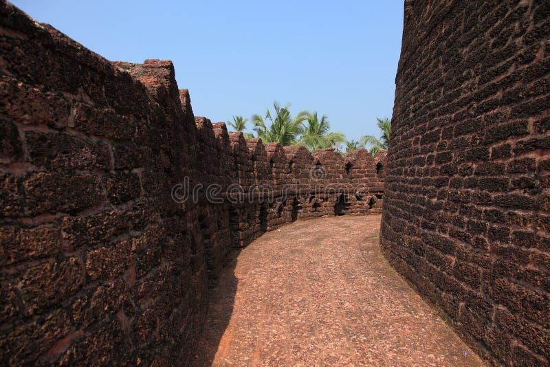 Muren van Bekal-Fort stock afbeeldingen