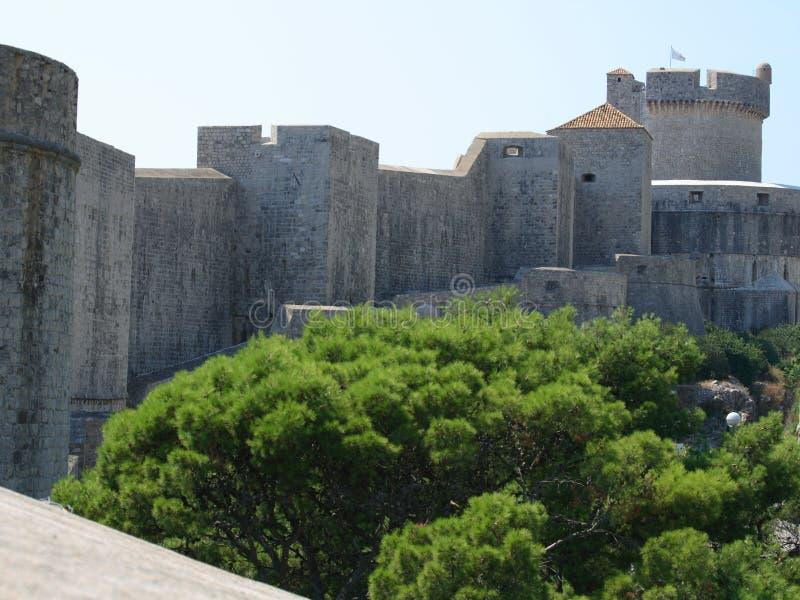 Muren van Dubrovnik royalty-vrije stock afbeelding