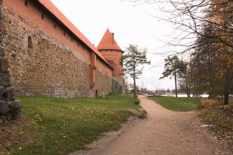 Muren van kasteel twee royalty-vrije stock foto