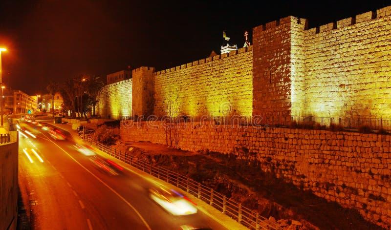 Muren van Oude Stad, Jeruzalem, Israël royalty-vrije stock afbeelding