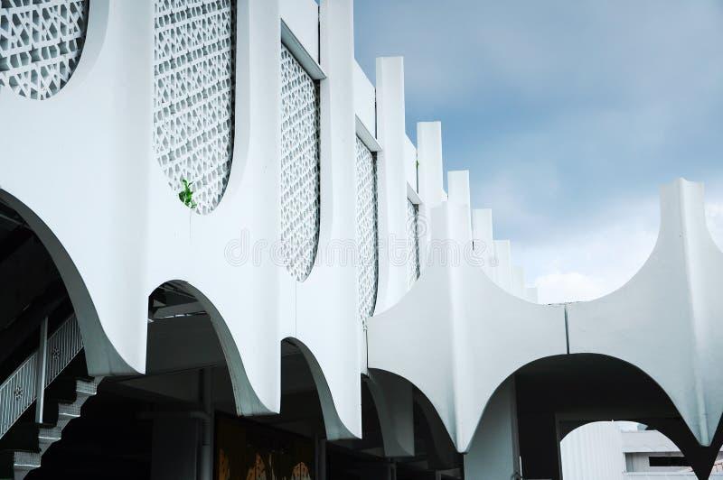 Murez le détail à la mosquée d'état de Perak dans Ipoh, Perak, Malaisie images stock
