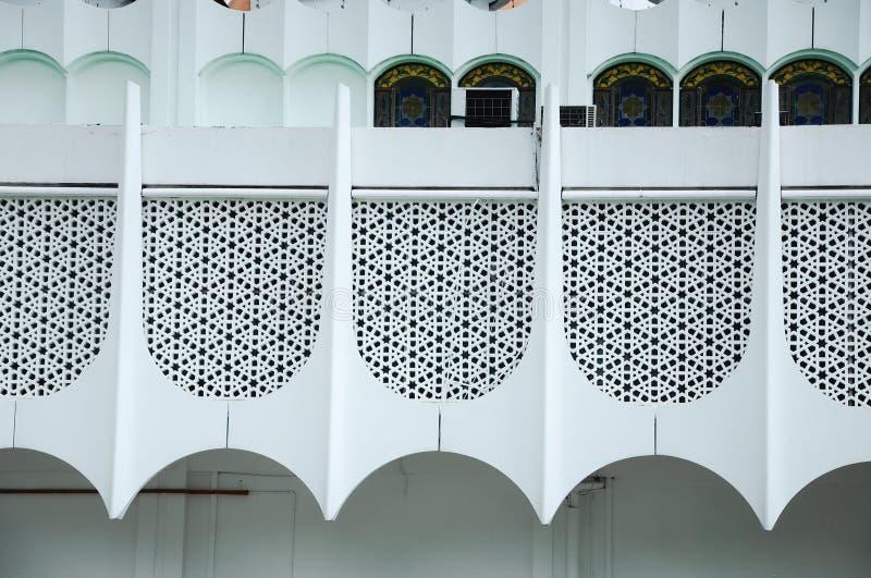 Murez le détail à la mosquée d'état de Perak dans Ipoh, Perak, Malaisie images libres de droits
