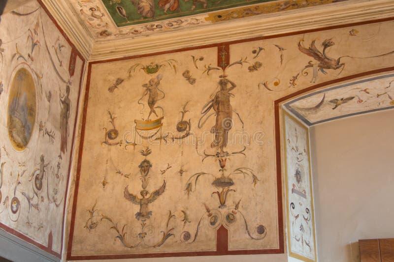 Murez le fragment de fresque dans Palazzo Vecchio, Florence, Italie image stock