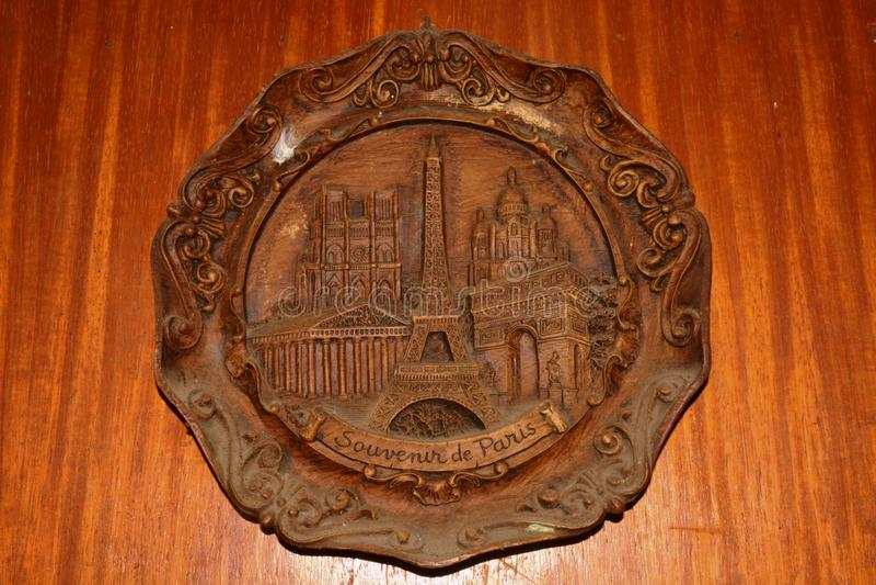 Murez le souvenir De Paris de décoration montré dans la ville de Digos, Davao del Sur, Philippines photos stock