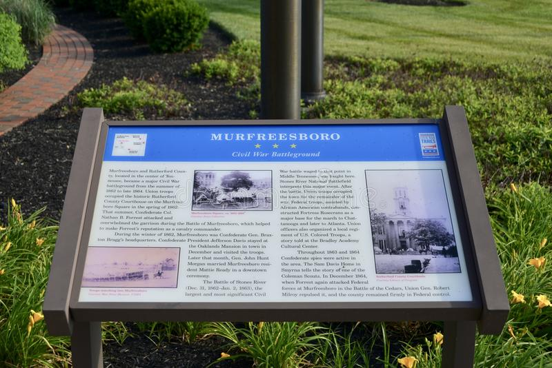 Murfreesboro, Tennessee Civil War Background royalty free stock photography