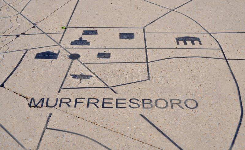 Murfreesboro, Tennessee Landmarks dans la pierre images libres de droits