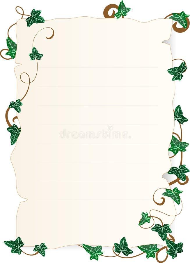 murgrönaen låter vara papper vektor illustrationer
