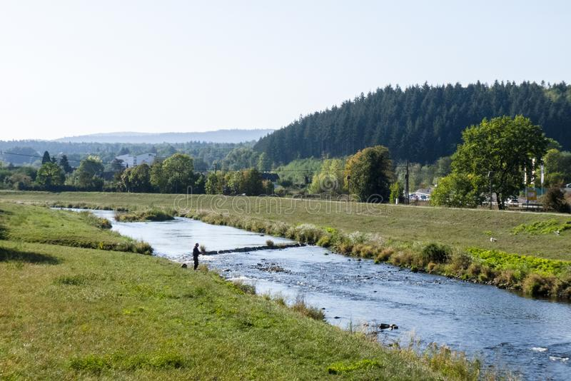 Murgrivier - Gaggenau royalty-vrije stock afbeeldingen