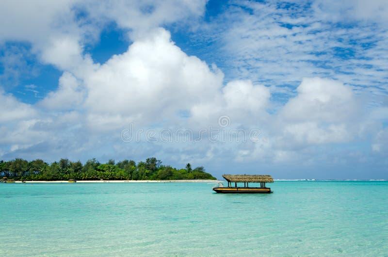 Muri盐水湖在拉罗通加库克群岛 库存照片