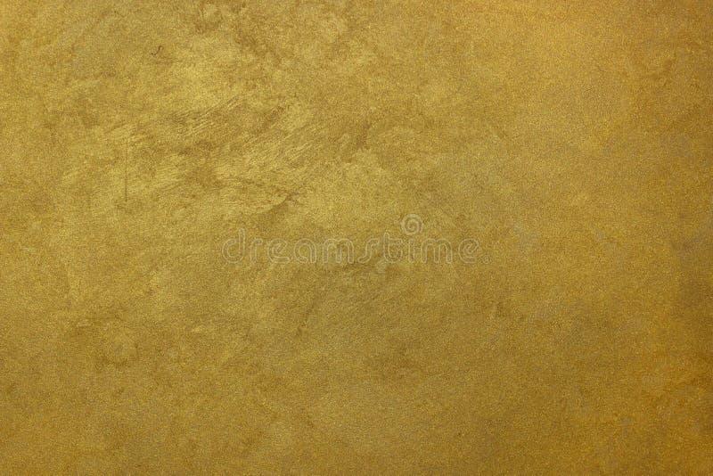 Muri il fondo di seta della pittura di effetto dell'oro arancio di struttura immagine stock libera da diritti
