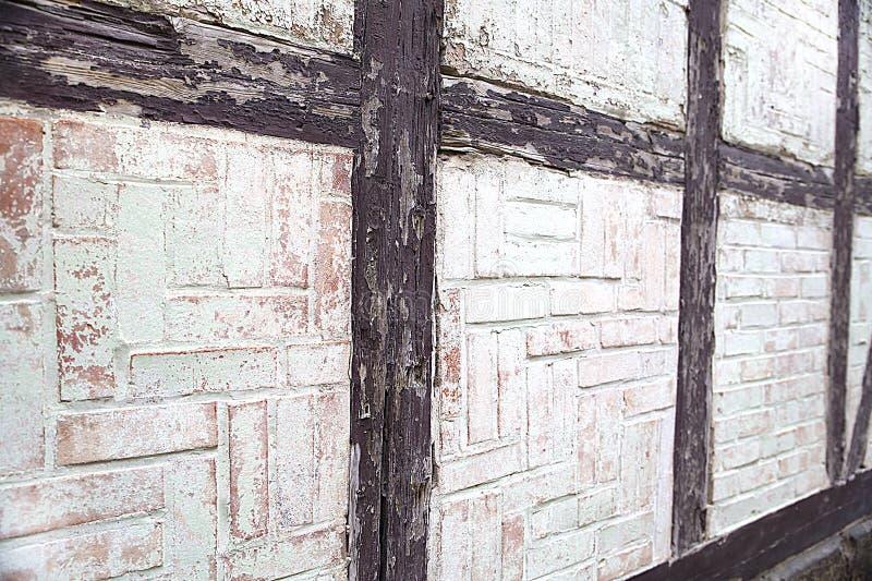 Muri la struttura della casa costruita nello stile di a graticcio, l'astrazione, l'antichità, stile nell'architettura, Germania immagine stock