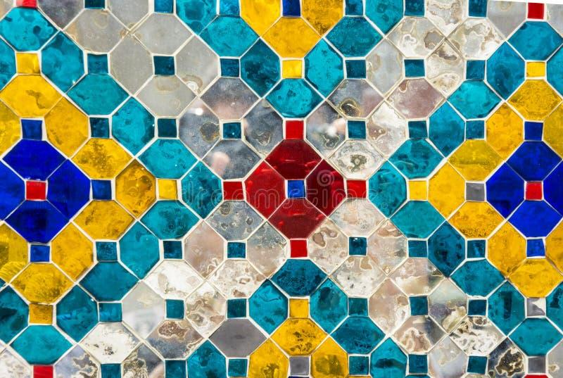 Muri le mattonelle di vetro, adatte a struttura del fondo immagini stock