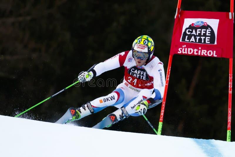 MURISIER Justin dans la tasse Men's Gian d'Audi Fis Alpine Skiing World photos libres de droits