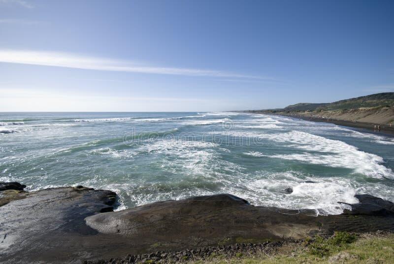 Muriwai海滩 免版税库存照片