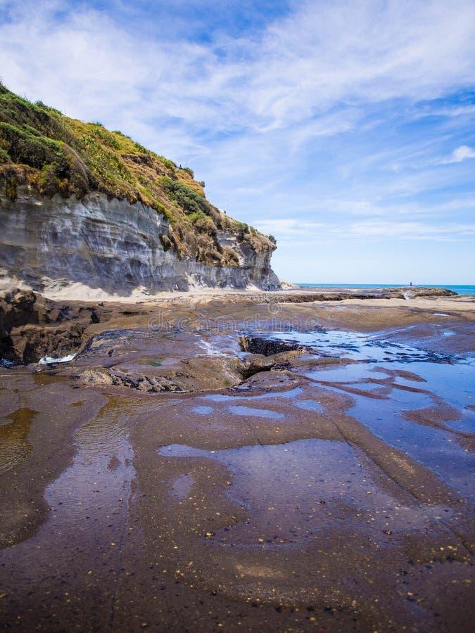 Muriwai海滩 库存图片