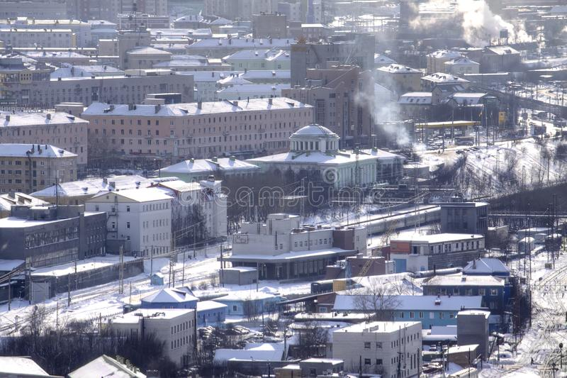 murmansk Frachtowa stacja kolejowa obrazy royalty free