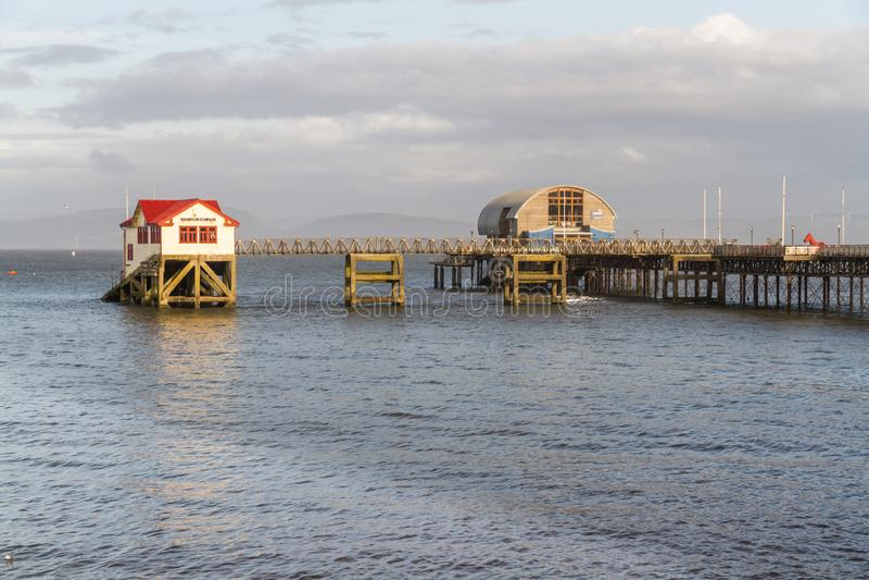 Murmelt Rettungsbootstation nahe Swansea Wales lizenzfreies stockbild