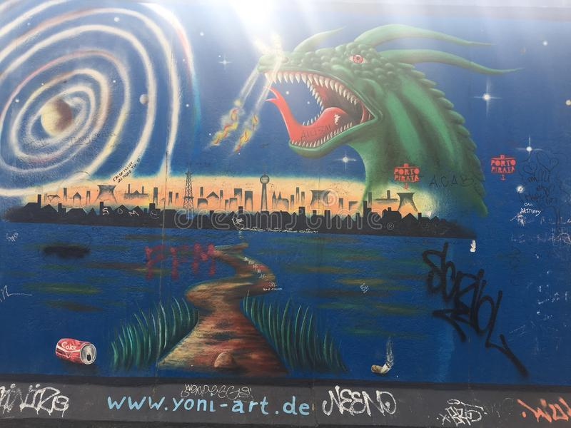 Muro de Berlín imagen de archivo