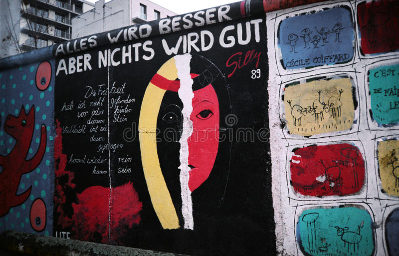 Muro de Berlim. Alemanha imagem de stock