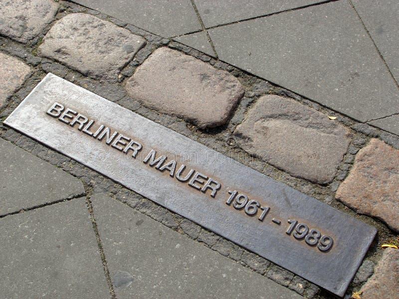 Muro de Berlim ex fotografia de stock