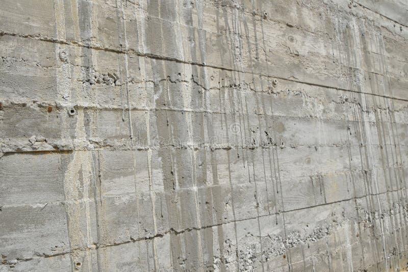 Muro de cemento acodado en perspectiva fotografía de archivo