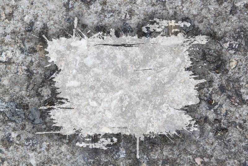 Muro de cemento con el marco sucio stock de ilustración