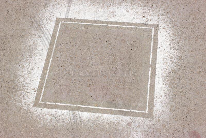 Muro de cemento con el marco sucio foto de archivo