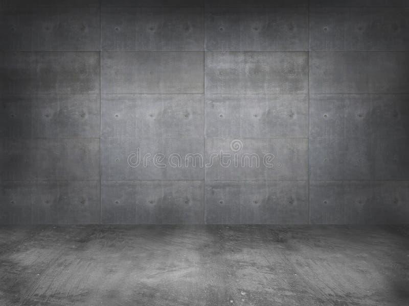 Muro de cemento con el piso concreto imagenes de archivo