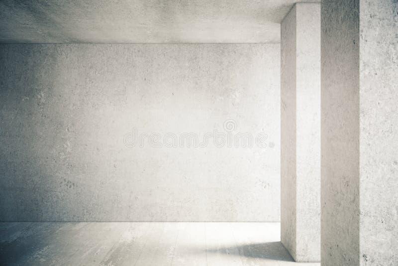 Muro de cemento en interior ilustración del vector