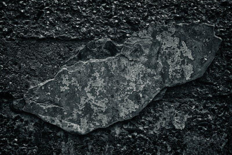 Muro de cemento negro con caído de la capa del cemento como fondo imagen de archivo libre de regalías