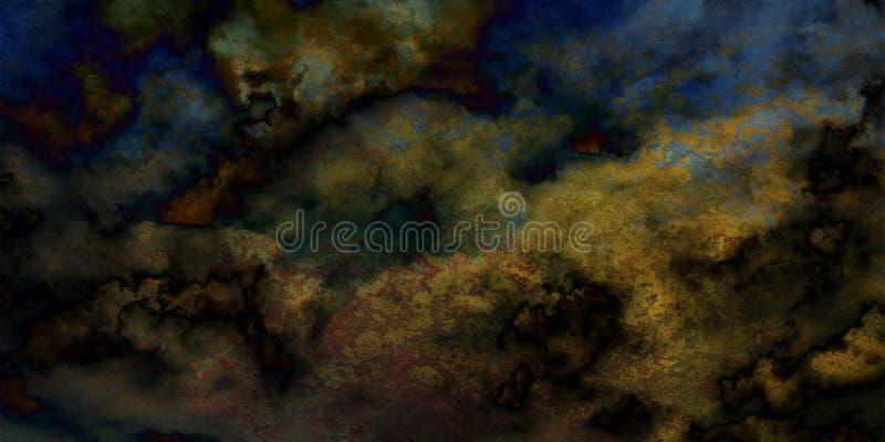 Muro de cemento pintado estilizado del grunge de la textura gráfica abstracta creativa multicolora del fondo foto de archivo libre de regalías