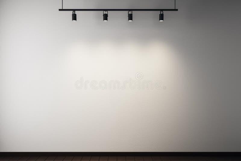Muro de cemento vacío stock de ilustración