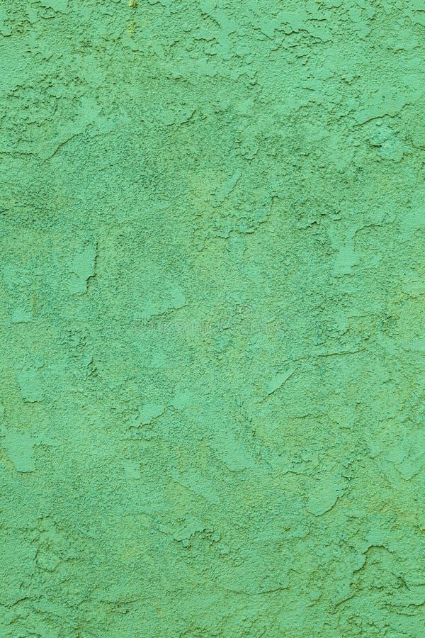 Muro de cemento verde con el modelo áspero imágenes de archivo libres de regalías