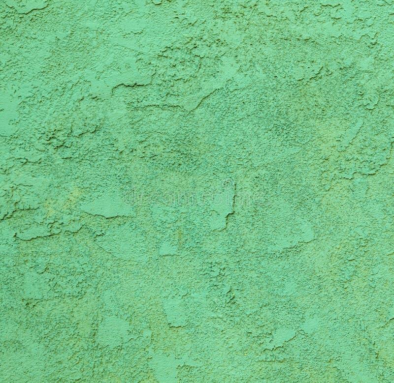 Muro de cemento verde con el modelo áspero fotografía de archivo