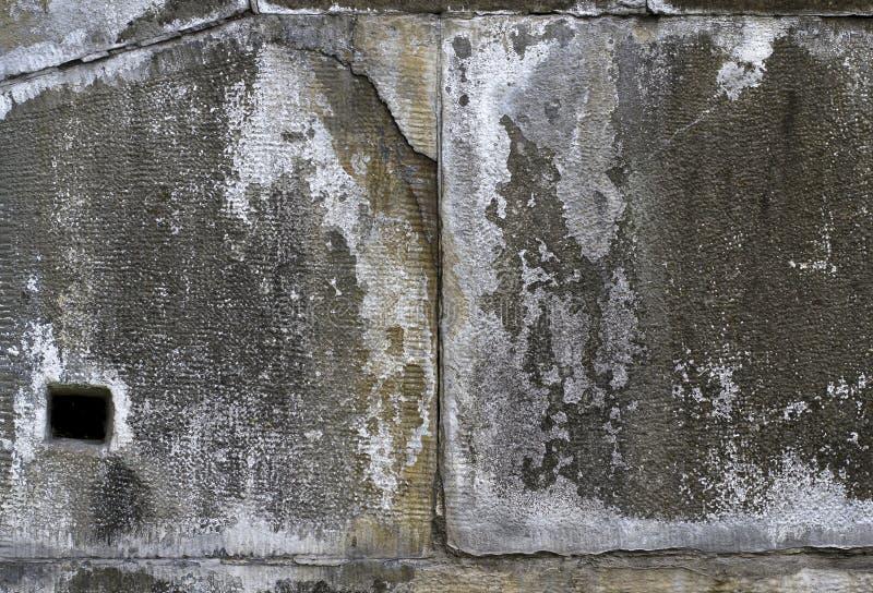 Muro de cemento viejo con las grietas Fondo del Grunge imagen de archivo libre de regalías