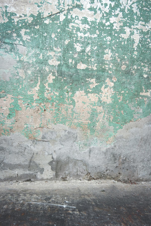 Muro de cemento y piso viejos imagen de archivo libre de regalías