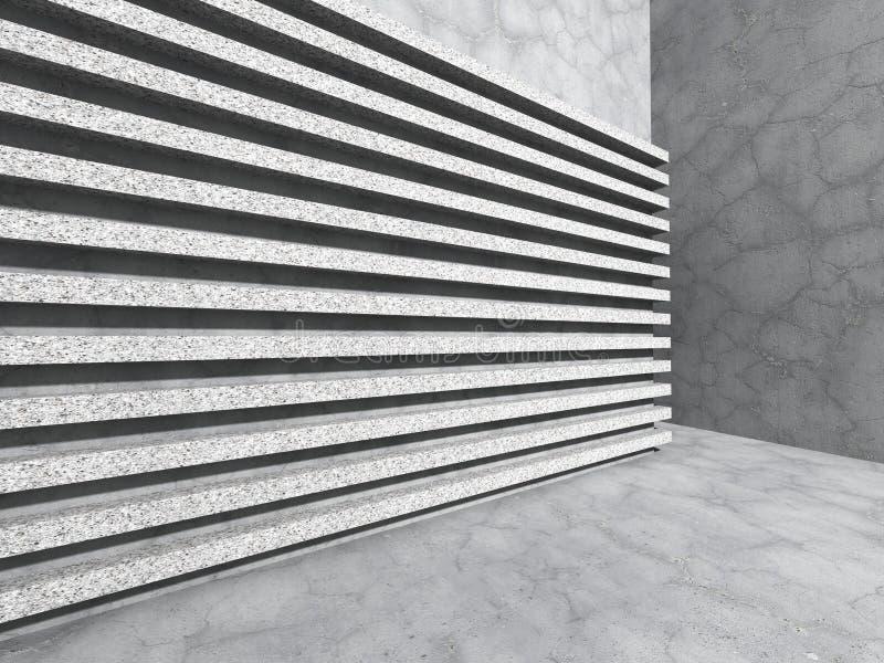 Muro de cimento abstrato Fundo da arquitetura do teste padrão da listra foto de stock royalty free