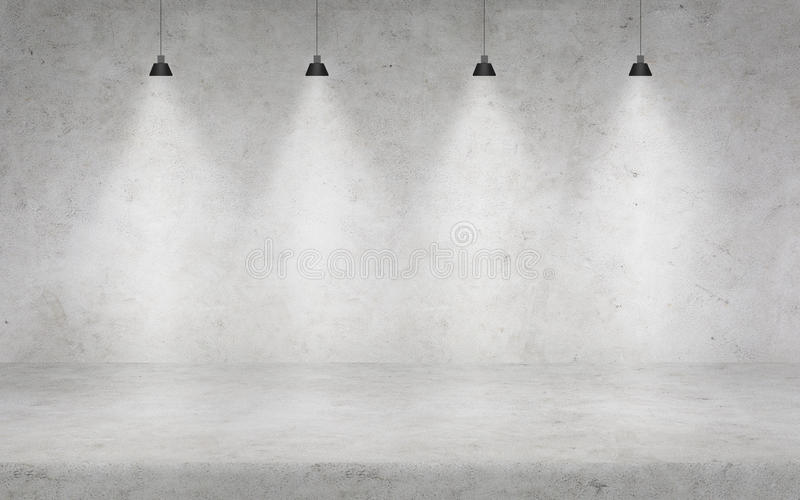 Muro de cimento com luzes imagem de stock royalty free