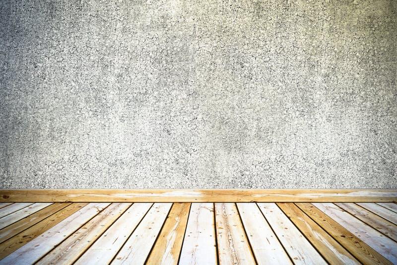 Muro de cimento do vintage e assoalho de madeira ilustração royalty free